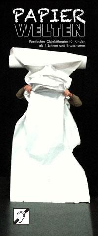 Das Kindertheater-Stück des ensemble THEATERATELIER 14H - Papierwelten - für Kinder ab 4 Jahren